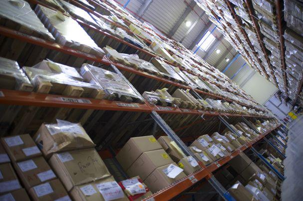 Photo de l'intérieur d'un des entrepôts Sitrans