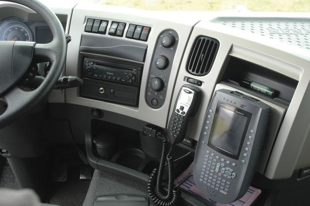 Photo d'un tableau de bord d'un véhicule Sitrans