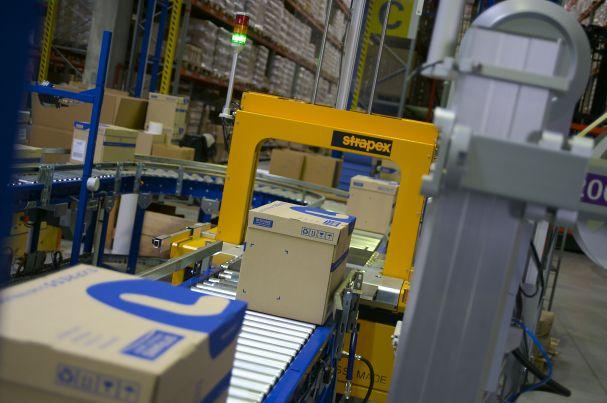 Photo prise lors de la gestion des marchandises des clients de Sitrans Logistique